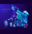 web application development and internet page vector image