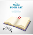 world book day in april on white background vector image vector image