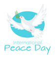 world peace day celebration web banner template vector image