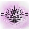 Eye tattoo print vector image