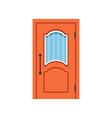 orange entrance door to house closed elegant door vector image