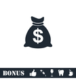 Money icon flat vector image