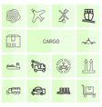 14 cargo icons vector image vector image