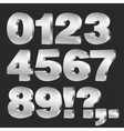 3D numbers vector image
