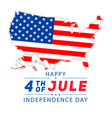 4th july lettering for greeting cards banner vector image