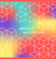 abstract color hexagonal background white cubes vector image vector image