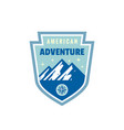 american adventure outdoors - concept badge vector image vector image