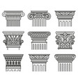 ancient greek capitals architectural orders vector image vector image