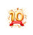 anniversary ceremony balloons 10 numbers balloons vector image