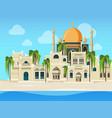 arabic landscape cultural muslim buildings desert vector image vector image