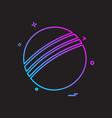 ball icon design vector image