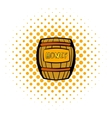 Barrel with honey icon comics style vector image vector image