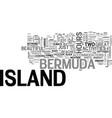 bermuda island text word cloud concept vector image vector image