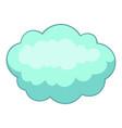 big cloud icon cartoon style vector image vector image