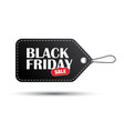black friday sale black tag isolated on white vector image vector image