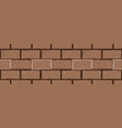 brick seamless wall vector image