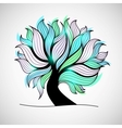 Bright colorful tree with branches and leaves vector image vector image