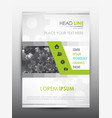 brochure design template cover presentation vector image vector image