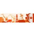 Cargo port Canada flag in gear vector image vector image