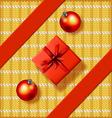 christmas greeting card with gift box vector image