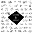 Collection of Catchwords vector image vector image