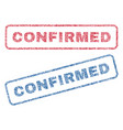 confirmed textile stamps vector image vector image