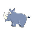 cute cartoon rhinocerus isolated on whit vector image vector image
