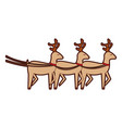 cute reindeer christmas icon vector image vector image