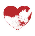 distress heart shape vector image
