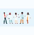 doctors weared gown in hospital or medicine forum vector image vector image