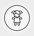 doll toy universal icon editable thin vector image vector image