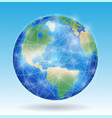 earth planet with line network connect vector image vector image