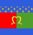 flag of meaux in seine-et-marne france vector image