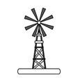 flat line windmill design vector image vector image
