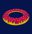 flat shading style icon donut vector image vector image