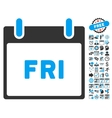 Friday Calendar Page Flat Icon With Bonus vector image vector image