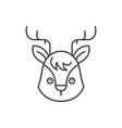 funny moose line icon concept funny moose vector image vector image