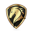 golden horse emblem icon vector image