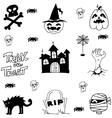 Halloween castle cat zombie doodle vector image vector image
