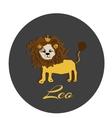 Happy Leo sticker hand drawn of a vector image vector image