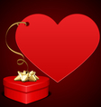 heart gift present vector image vector image