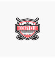 hockey club badge logo-9 vector image