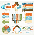 Infographics set with options vector image vector image