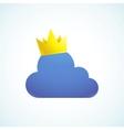 king cloud vector image
