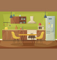 kitchen home interior dining room furniture vector image vector image