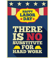 Labor day quote greeting card vector image vector image