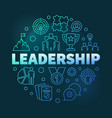 leadership round colorful linear vector image vector image