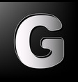 Letter g sign design template element