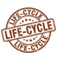 life-cycle brown grunge stamp vector image vector image