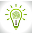 Light bulb with Green tree icon vector image
